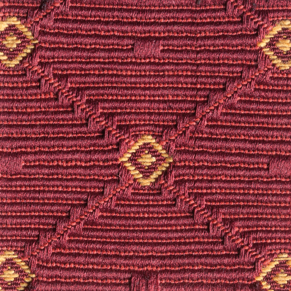 Stoff gemustert Rauten-Muster rot AYT