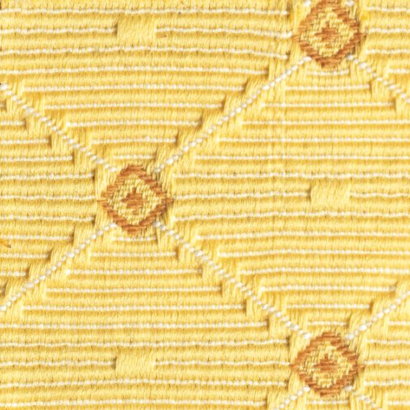 Stoff gemustert Rauten-Muster gelb AYX