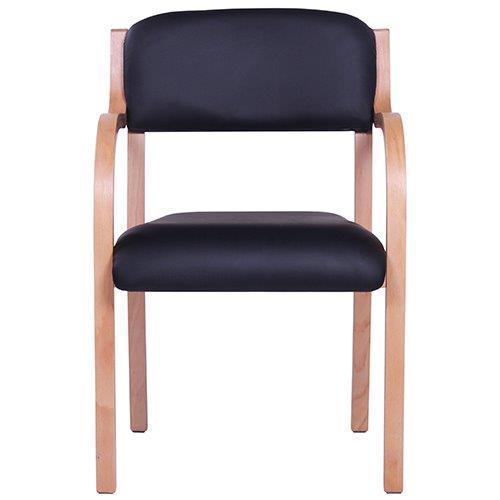 besucherstuhl armlehnstuhl jana al stapelbar gepolsterte holzst hle holzst hle sessel. Black Bedroom Furniture Sets. Home Design Ideas