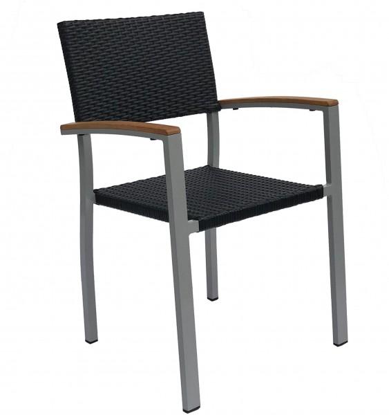 Outdoor Stuhl mit Armlehnen TIMOR W  - stapelbar
