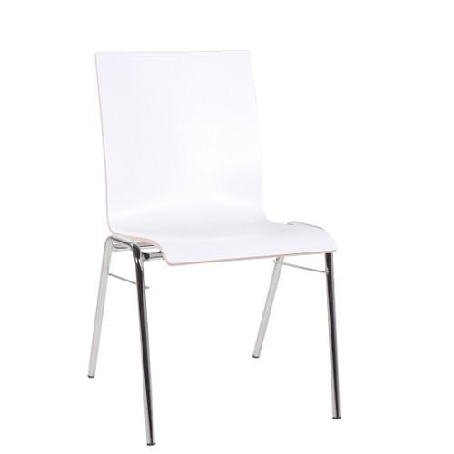 Stapelstuhl | Wartezimmerstuhl COMBISIT A40 HPL weiß