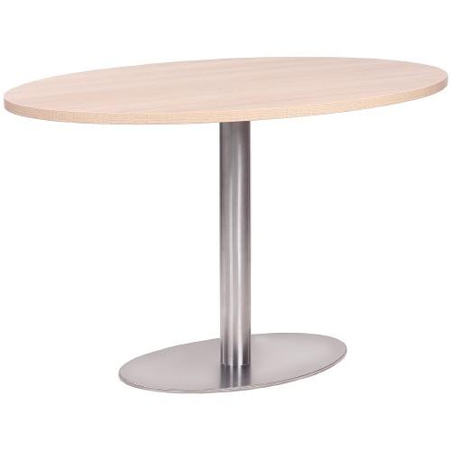 Ovaler Tisch PRATO IX Tischplatte Eiche natur