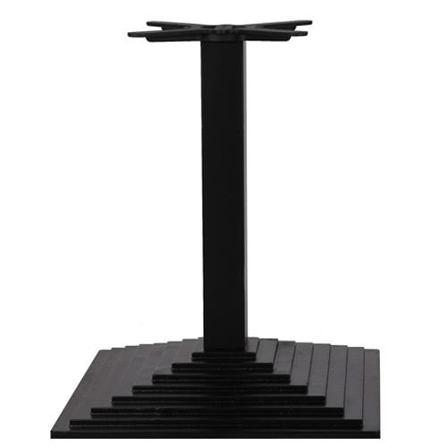 Stahl Tischgestell CAPRI 60 aus Gusseisen in Pyramidenform - schwarz