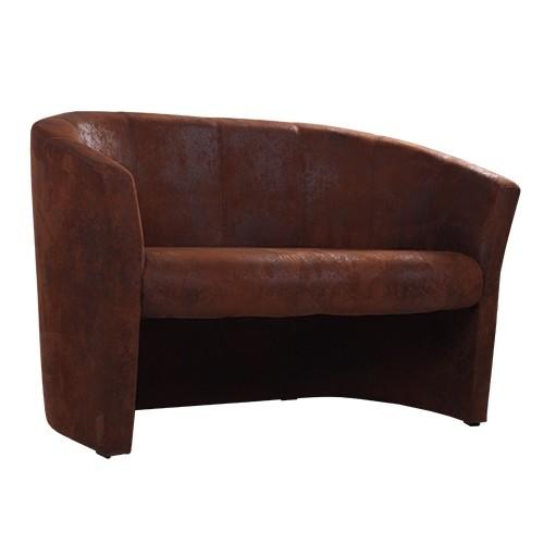Couch CARLO Microvelours in Wildlederoptik G03 braun