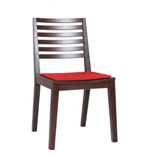 Holzstuhl für Bistro, Sitz gepolstert