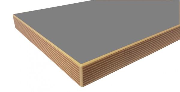 Tischplatte mit Multiplexkante 25 mm stark lichtgrau