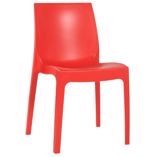 Kunststoffstuhl stapelbar   wetterfeste Stühle   moderne Stapelstühle rot