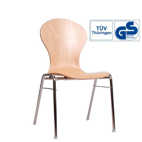 Konferenzstühle stapelbar | stapelbare Stühle für Konferenzraum COMBISIT A10 GS Geprüft