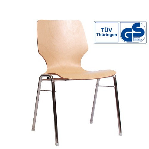 Konferenzstühle Seminarstühle stapelbar COMBISIT A20 ohne Sitz- und Rückenpolster