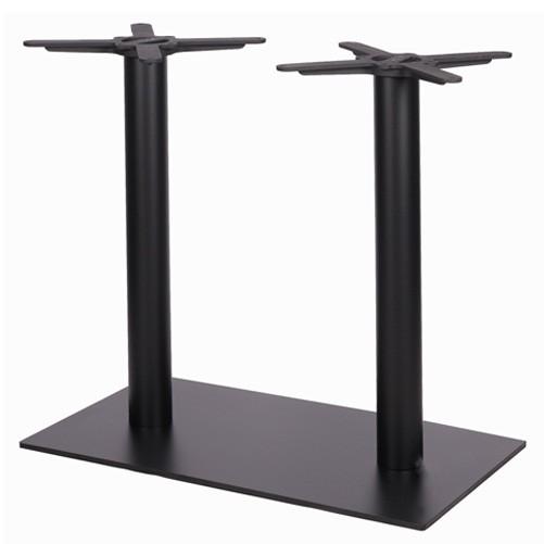 Doppelsäulen-Tischgestell SALENTO DUO pulverbeschichtet in schwarz