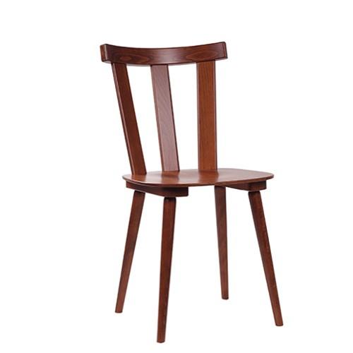traditionelle Holzstühle | Bauernstühle | Holzstühle im Retro Design, Holzfarbe: nussbaum