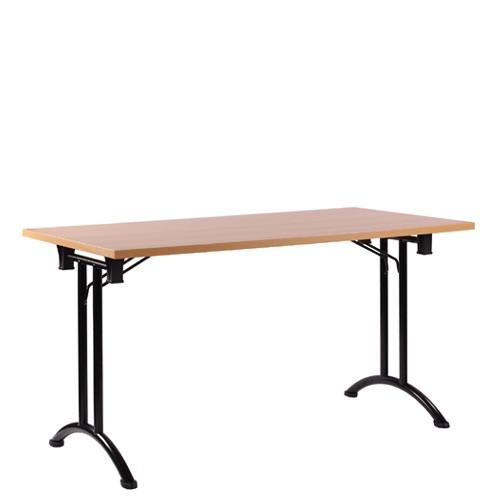 Tischgestell aus Stahlrohr mit Fußgestell in Bogenform