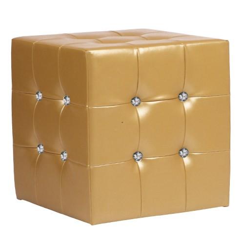 CUBO 1 VIP Kunstleder gold glänzend - Würfel zum Sitzen