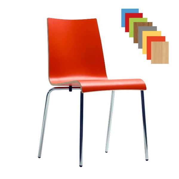 Stapelstuhl Kantinenstuhl Konferenzstuhl ROMAN HPL in trendigen Farben