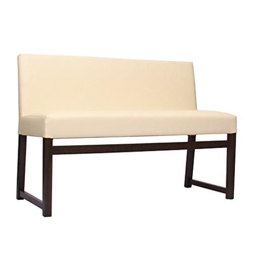 2-Sitzer-Polsterbank FALCO in nussbaum dunkel, Kunstleder KB36 beige