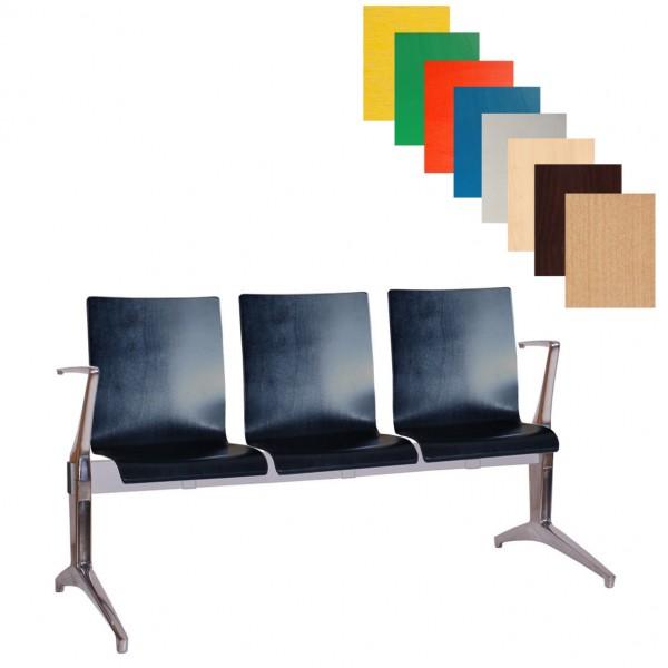 moderne 3-Sitzer Wartebank Sitzbank WAIT
