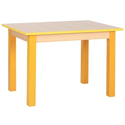 Kindergartentisch JIMMY Tischkante und Tischbeine pastellgelb