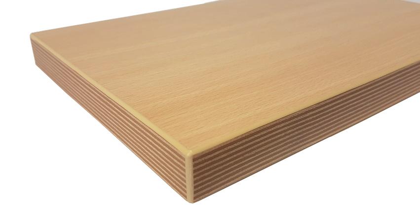 Tischplatte Holzplatte Holzzuschnitt Buche Natur 25 mm beschichtet ABS-Kante
