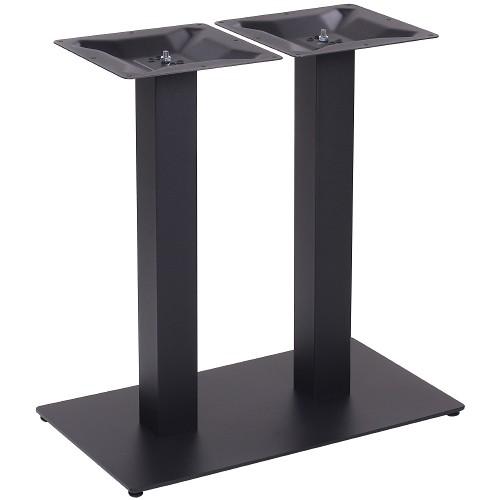 Gastronomie Tischgestell Stahl | Doppel Tischgestell NIZZA DUO pulverbeschichtet in schwarz