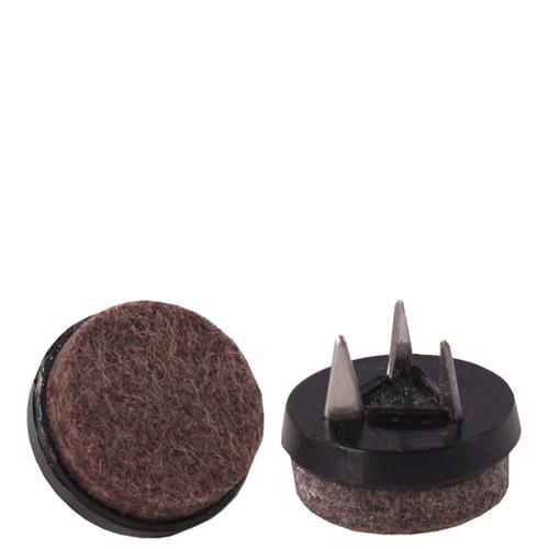 Bodengleiter PUNTAK mit Filz mit 3 Befestigungsstiften zum Nageln in schwarz