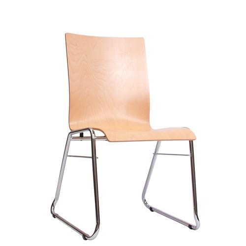 Stapelbare Besucherstühle COMBISIT C40 ohne Sitz- und Rückenpolster