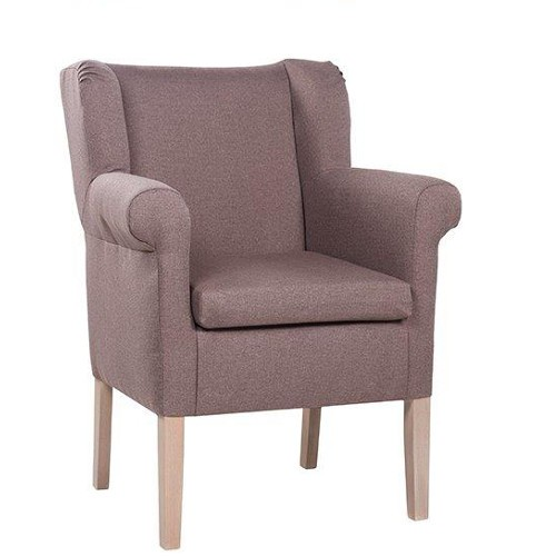 Polstersessel | Ohrensessel | Hotelsessel CLEA in Uni-Stoff SF 44 taupe