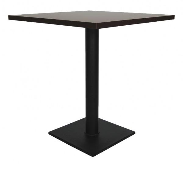 Tisch SALENTO 40 Tischplatte nussbaum dunkel / wenge