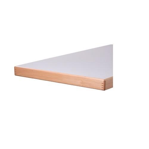 Tischplatten mit Aufkantung, Aufdoppelung