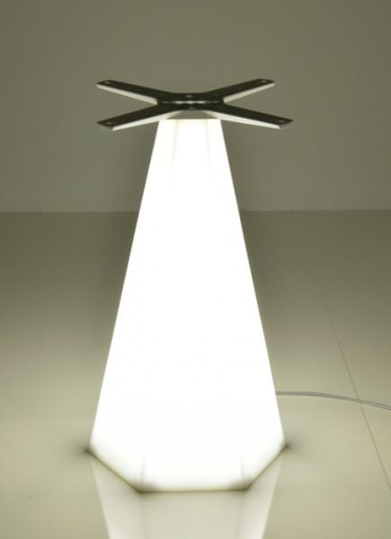 konisches Tischgestell TORIS LED mit Beleuchtung