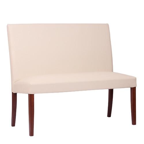 2-Sitzer-Polsterbank THEA 2 in nussbaum dunkel - KB36 beige