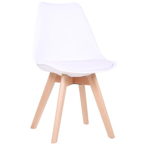 moderner Holzstuhl | Bistrostuhl MILO weiß