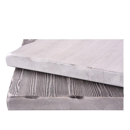 Tischplatte Massivholz Shabby-Look