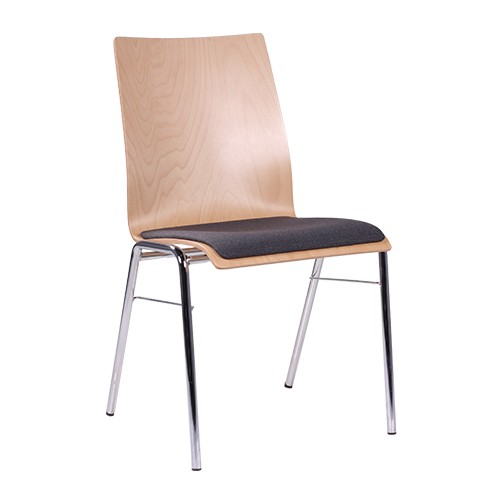 Stapelstuhl | Konferenzstuhl  Sitz gepolsetrt