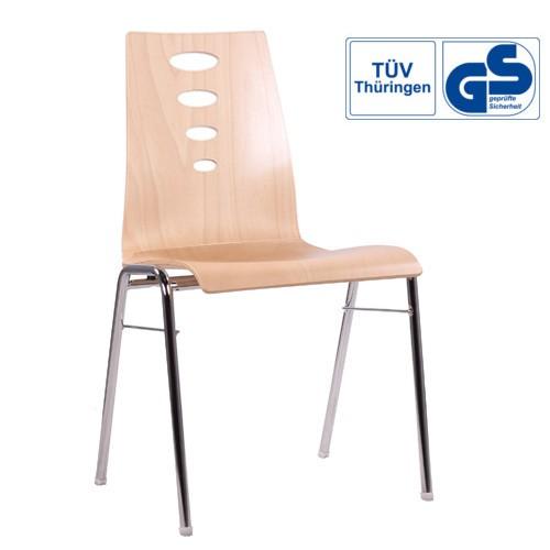 Konferenzstuhl Holzschalenstuhl COMBISIT A50 mit GS Zeichen