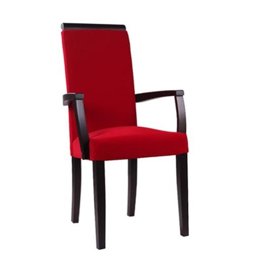 Polsterstuhl mit hoher Rückenlehne | Polsterstuhl mit Armlehnen
