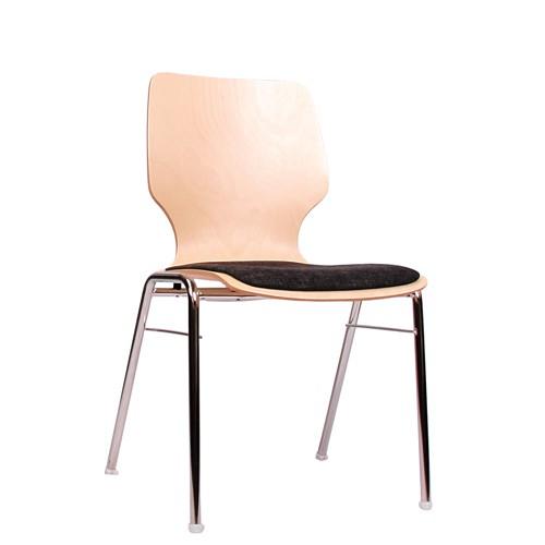 Konferenzraum Stühle stapelbar COMBISIT A20 mit Sitzpolster, Uni-Stoff dunkelgrau