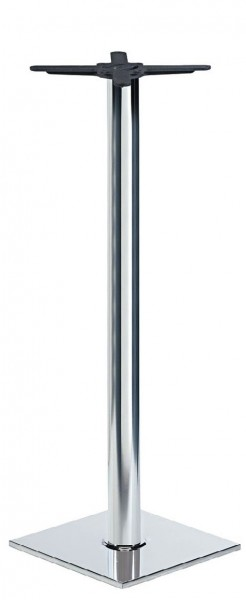 Stehtischgestell   Stehtischsäule RIANO CR aus Gusseisen mit verchromter Abdeckung