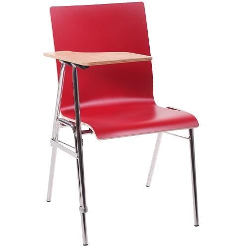 Seminarstuhl / Stuhl mit Schreibplatte COMBISIT SEMINAR HPL in rot