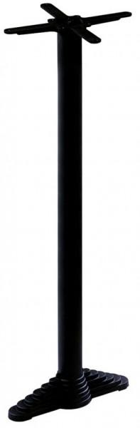 Stehtischfuß LIONA für Bartische mit Wandmontage - pulverbeschichtet in schwarz