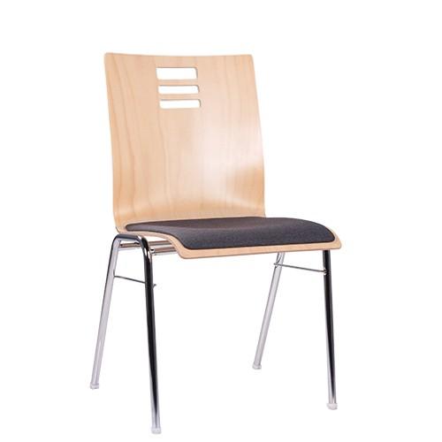 moderner Stapelstuhl | Konferenzstuhl, Sitz gepolstert