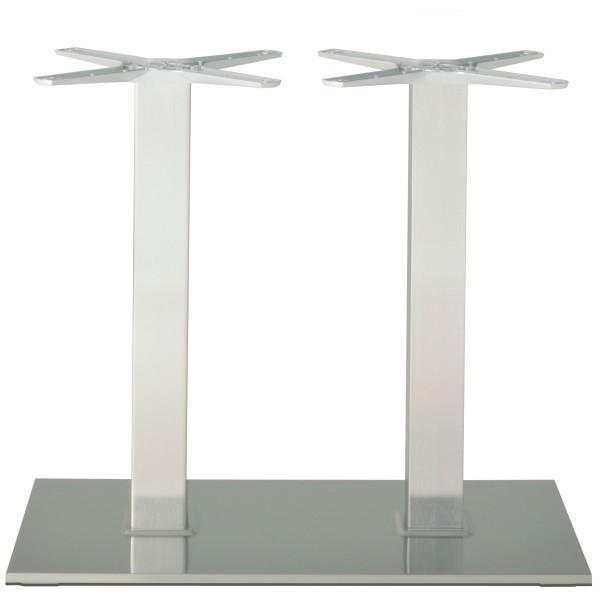 Modernes Doppelsäulen-Tischgestell PADUA aus Edelstahl