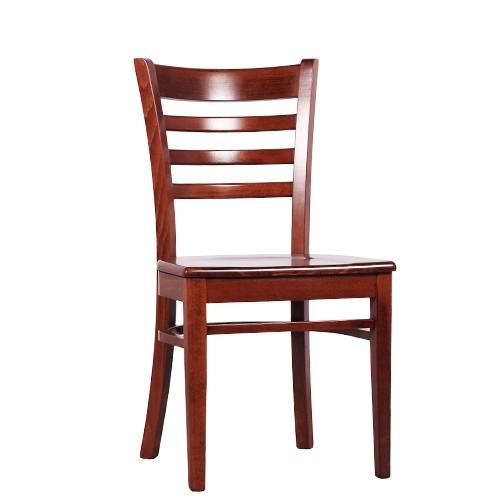 Massivholz Stuhl   Stuhl für Bistro und Restaurant WILLIAM in nussbaum