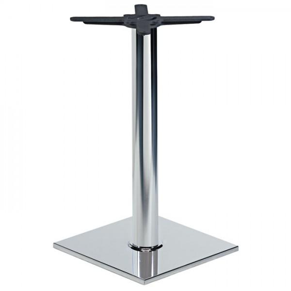 verchromtes Tischgestell RIANO CR aus eckigem Stahlrohr