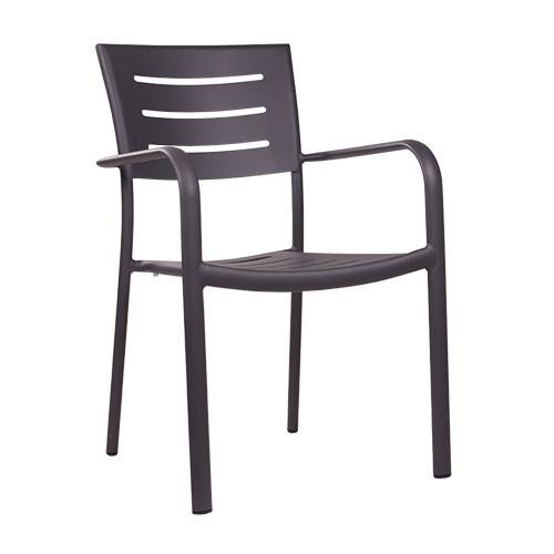 Outdoor-Stuhl BARIO anthrazit - stapelbar