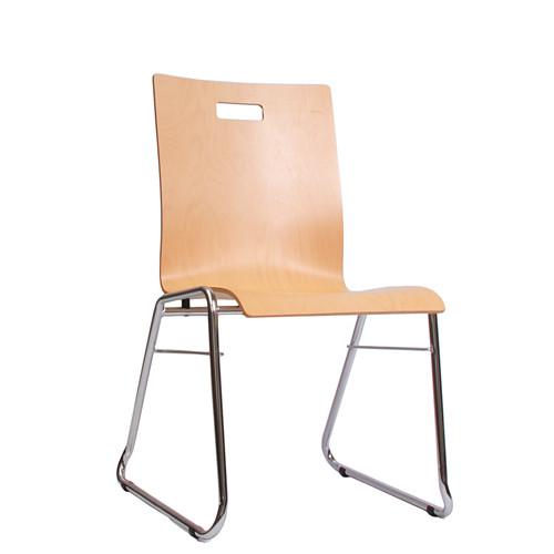 Holzschalenstuhl / Stapelstuhl COMBISIT C40G mit Griffloch  ohne Sitzpolster