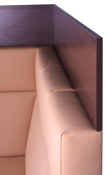 Wandabschlusselement für Sitzbänke