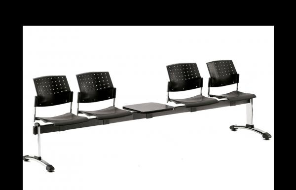 Traversenbank SIMO 4-Sitzer mit Ablagetisch