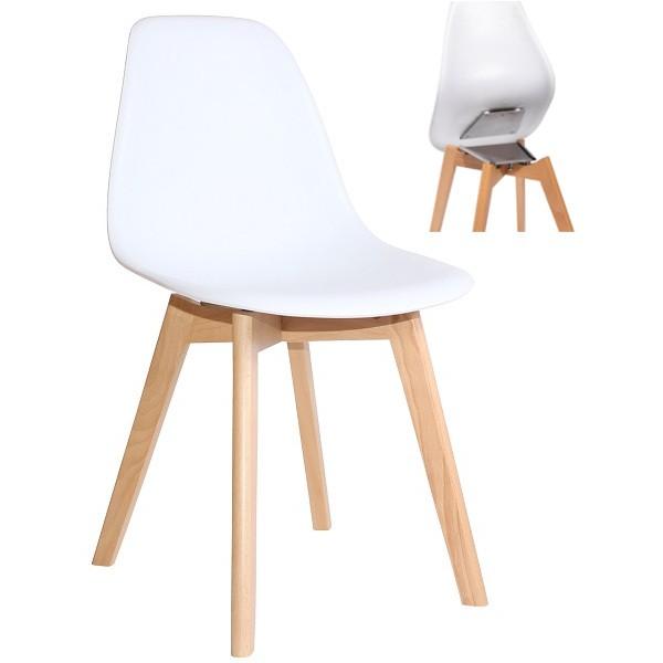 Schalenstuhl Bistrostuhl mit abnehmbarer Sitzschale FLEXO weiß