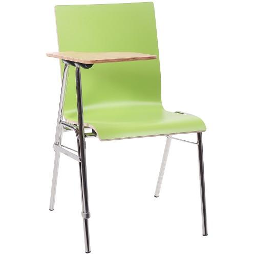 Seminarstuhl Stuhl mit Schreibplatte COMBISIT SEMINAR HPL in limonengrün