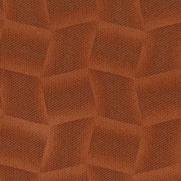 Mikrofaser-Stoff mit attraktiven geometrischen Mustern terrakotta